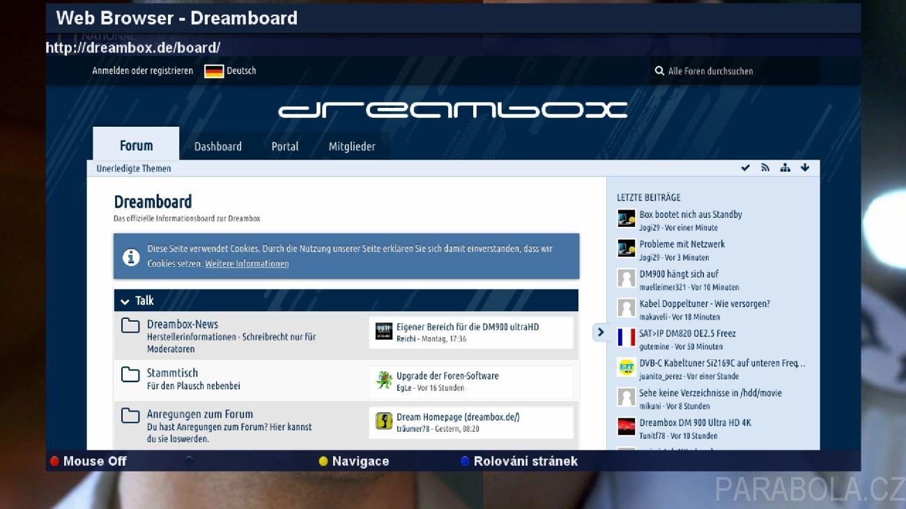 Dreambox DM900 ultra HD - linuxový UHD přijímač s