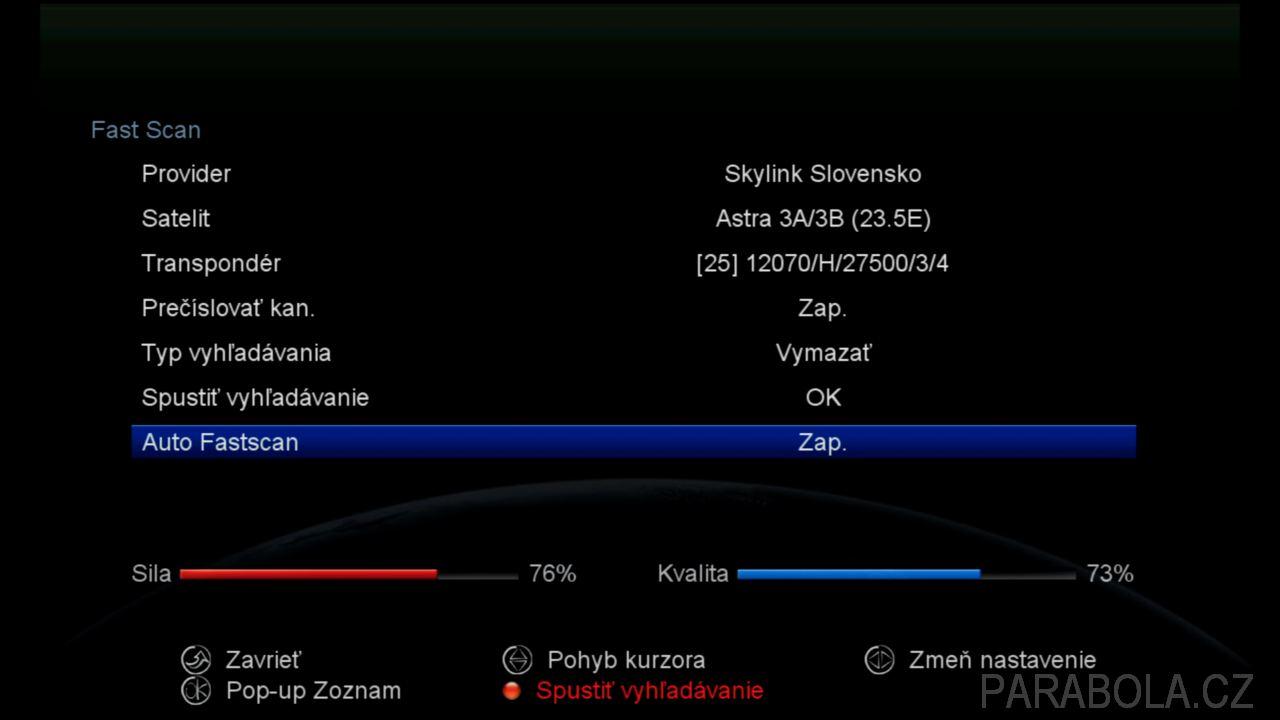 52597ac5b 2 - Funkce Auto FastScan v menu přijímačů AB CryptoBox řady 6xx. Co přináší  nový řídící software? Je to funkce Auto FastScan, která umožňuje  automatické ...