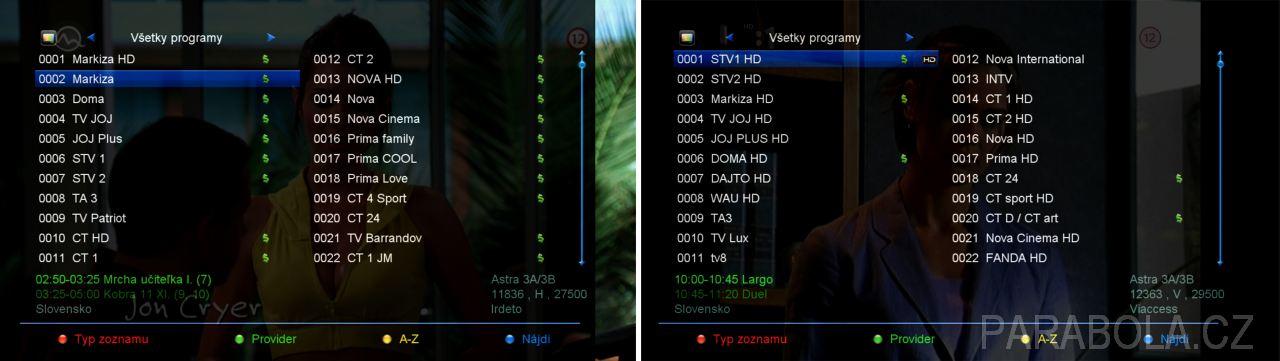a70efdd5c 4 - Porovnání starého seznamu programů a nového seznamu programů po použití  funkce Auto FastScan. Samozřejmě, že funkci Auto Fastscan lze v menu  přijímače ...