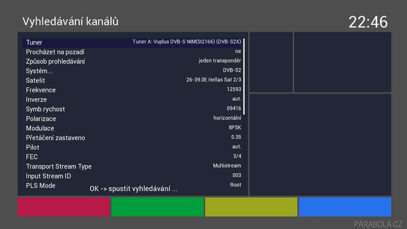 VU+ Zero 4K - aktualizace VTI s funkčním multistreamem - Parabola cz