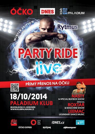 Obrázek k textu: ÓČKO rozjede v říjnu druhou sérii Party Ride Live