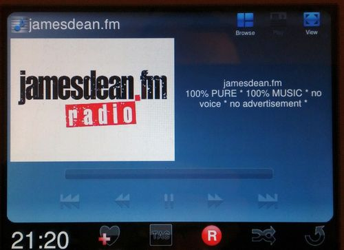 Obrázek k textu: Rádio jamesdean.fm zahájilo v DAB multiplexu RTI cz