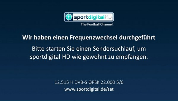 Sportdigital HD mění parametry na 19,2E