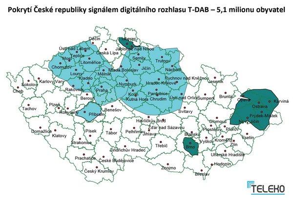 Obrázek k textu: Regina DAB Praha vstoupila do multiplexu TELEKO