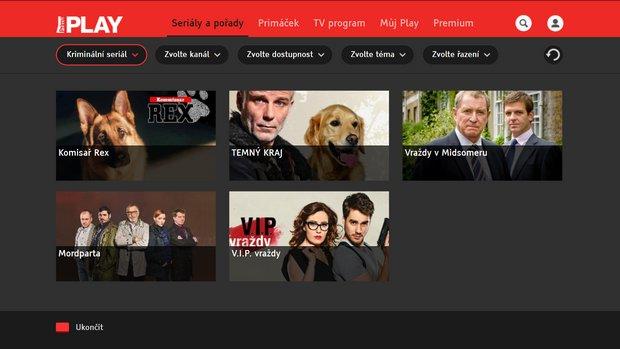 Obrázek k textu: Prima s HbbTV aplikací Krimi seriály