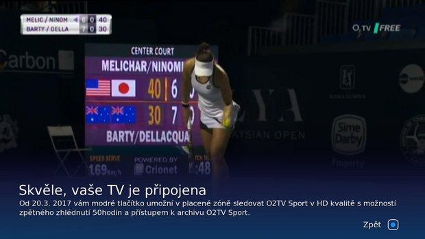 Obrázek k textu: O2TV FREE začal testovat HbbTV