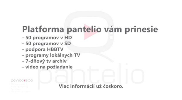 Obrázek k textu: Slovenská platforma Pantelio slibuje přes 50 HD a 50 SD programů