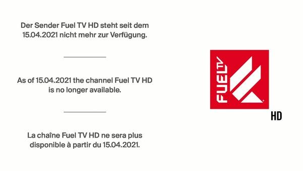 FUEL TV HD - tekstinformatie over het einde van de programmadistributie