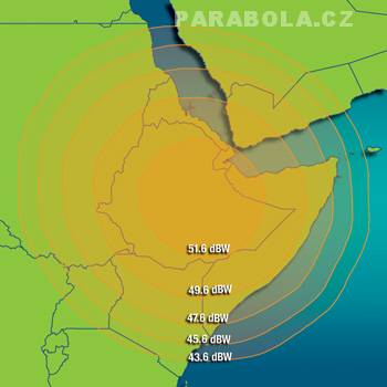 Footprint satelitu Intelsat 702 (55,1°E), Ku pásmo, S3 beam